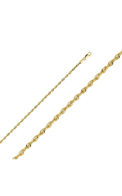14KY 3 mm Rope Chain – 8″ product image