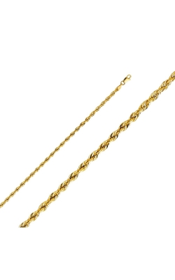 14KY 3 mm Hollow DC Rope Chain – 18″ product image