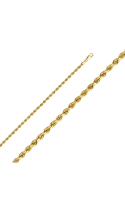 14KY 3mm Solid Rope DC Chain – 7.5″ product image