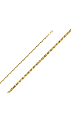 14KY 2.5mm Solid Rope DC Chain – 18″ product image