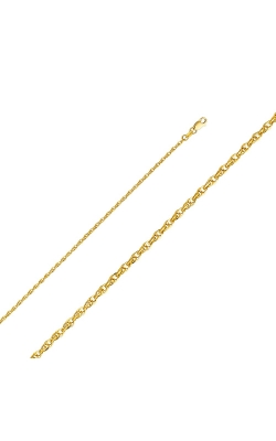 14KY 2.2mm Double Link Hollow Rope Chain – 16″ product image