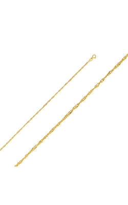 14KY 1.6mm Hollow Singapore Chain – 16″ product image