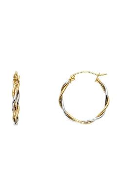 14K 2T 1.5mm Twisted Hoop Earrings product image