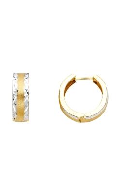 14K 2T 5mm DC Huggies Earrings product image