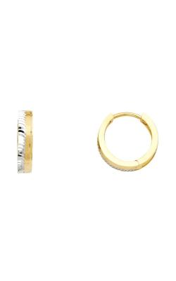 14K 2T 3mm Huggies Earrings product image