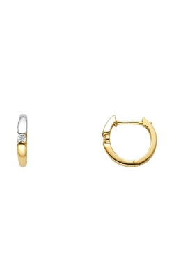 14K 2T 2mm CZ Huggies Earrings product image