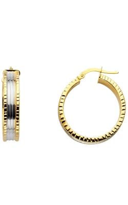 14K 2T 6mm DC Hoop Earrings product image
