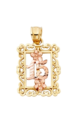 14K 2T 15 Years Years Pendant product image
