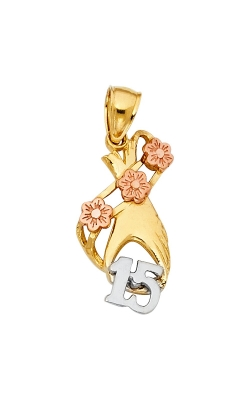 14K 2T 15 Years Years Heart Pendant product image