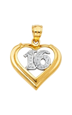 14K 2T 16 Years Heart Pendant product image