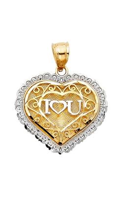 "14K 2T "" I Love You"" Heart Pendant product image"