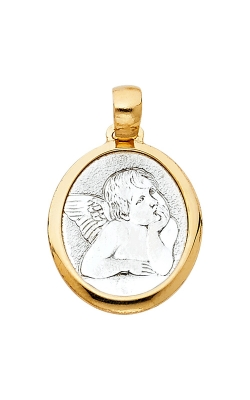 14K 2T Angel Religious Pendant product image
